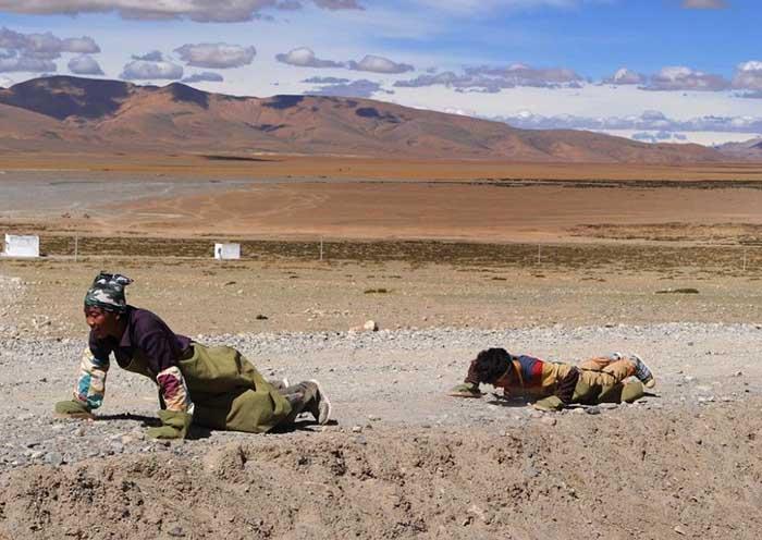 devout Tibetan pilgrims