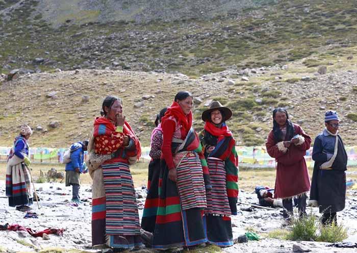 Happy Local Mount Kailash Pilgrims