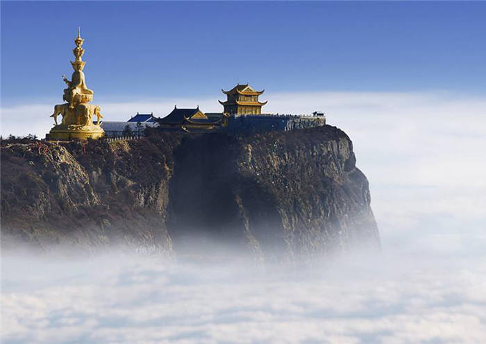 Golden-roofed Temple on Mount Emei