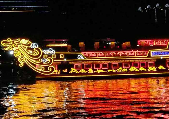 night cruise on the Pearl River