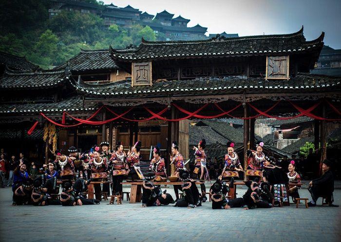 Miao People's Beautiful Costumes